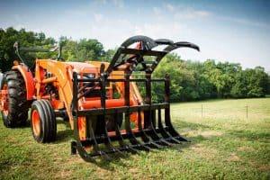 tractor grapple rake single 2