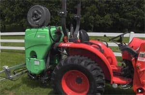 land champ sprayer mounted on tractor