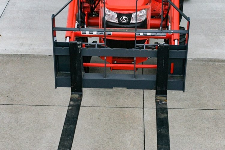 Visi Pallet Forks for Universal Skid Loader-Compatible Quick Attaches