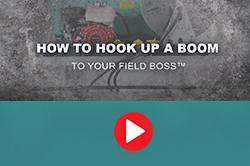 how to attach a utv spray boom