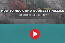 how to hookup boomless nozzle to utv sprayer
